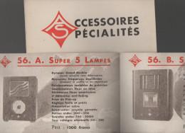 Dépliant ACCESSOIRES SPECIALITES (postes De Radio) (PPP3241) - Advertising