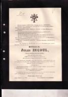 FORRIERES BUISSONVILLE Jules INCOUL Veuf HENRI Juge De Paix Honoraire 1837-1914 PONCELET Obsèques St-HUBERT BOUVIGNES - Obituary Notices