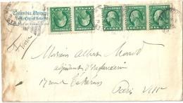 Enveloppe  -  Cachet  Au  Départ   De  NEW - YORK   -   Etats - Unis  -   à   Destination  De   Paris - Amérique Centrale