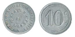 N2446 - Saint-Mandé: Comité Municipal D'alimentation: 10 Ct (SUP) - Monetary / Of Necessity
