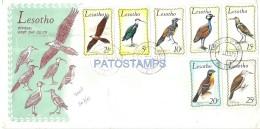 50614 AFRICA LESOTHO COVER SOBRE BIRD PAJAROS YEAR 1971 NO POSTAL POSTCARD - Briefmarken