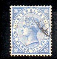 T186 - GIBILTERRA 1886 , 2 1/2 Penny Verde N. 11  Usato - Gibilterra