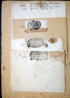 CACHETS DE GENERALITE XVII° ET XVIII° POITIERS  4 CACHETS SUR PAPIER VIERGE PLIE - Seals Of Generality
