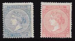 EX COLONIA ESPAÑOLA EDIFIL Nº 13 (*) -  15 (*) - Cuba (1874-1898)