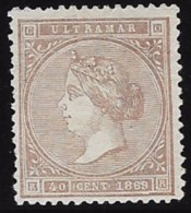EX COLONIA ESPAÑOLA EDIFIL Nº 18 (*) - Cuba (1874-1898)