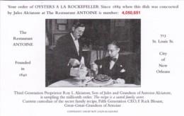 Louisiana New Orleans Restaurant Antoine Oysters A La Rockefelle