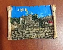 Lebanon Fridge Magnet Souvenir Jbeil Byblos From Resin, Liban Magnetic Libanon - Tourism