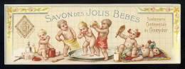 Etiquette De Parfum: SAVON DES JOLIS BEBES (19,8 X 6,8 Cms) (Ref.110493) - Etiquettes