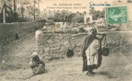 Cpa - Algérie  -      Scénes Et Types - Porteur D 'eau Indigénes   ,animée           AH1867 - Scenes