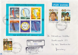 Postal History Cover: Superb Tonga R Cover With Whitbread Round The World Race, Nuku´alofa And Heilala Week Sheetlet - Sailing