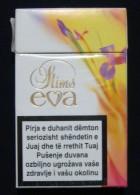 EVA SLIMS EMPTY HARD PACK CIGARETTE BOX EDITION WITH KOSOVO FISCAL STAMPS - Boites à Tabac Vides