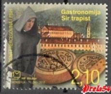 Bosnia Croatian Post - Gastronomy - Trappist Cheese 2012 Used - Bosnia And Herzegovina