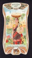 CHROMO Savon Le Chat   A Travers Le Monde   Inde India    Calendrier 1906 1907 Goossens   Art Nouveau - Chocolat