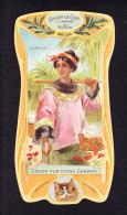 CHROMO Savon Le Chat   A Travers Le Monde   Tonkin   Vietnam  Calendrier 1906 1907 Goossens   Art Nouveau - Chocolat