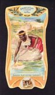 CHROMO Savon Le Chat   A Travers Le Monde   Sénégal  Calendrier 1906 1907 Goossens   Art Nouveau - Chocolate