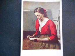 """CP - COROT """"La Liseuse"""" - Peintures & Tableaux"""