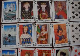 Jeu De 54 Cartes à Jouer Jeu Gothique Vincennes Louvre Saumur Ste Chapelle Histoire - Kartenspiele (traditionell)