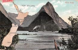 "04431 ""NEW ZEALAND - MITRE PEAK"" ANIMATA, BATTELLI.  CART SPED 1909 - Nuova Zelanda"