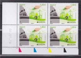 = Europa 2016 Coin Daté X4 Think Green 08.01.16 Timbres 1.00€ Neufs N°5046 L'écologie En Europe Main Peignant En Vert - 2010-....