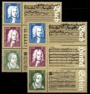 Abart 2932 II Brauner Punkt über E In Händel DDR 2931/3+IV Aus Block 81 ** 26€ Noten 1985 Hb Music Bloc Sheet Bf Germany