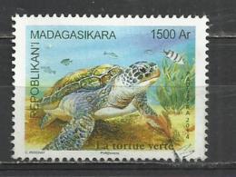 MADAGASCAR 2014 - TURTLE - USED OBLITERE GESTEMPELT USADO - Tortues