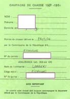 CAMPAGNE DE CHASSE 1989-1990 Permis De Chasser  CESARVILLE-DOSSAINVILLE  Viévy TIMBRE Fiscal +TIMBRE Chasse - Non Classificati