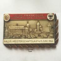 Medal / Plaque (Plakette) PL000016 - Rally (Rallye) Germany (Deutschland) Meisterschaftlauf ADAC 1966-06-04 - Automobilismo - F1