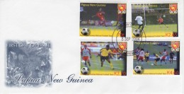 Papua New Guinea 2004 Soccer / Football National Team FDC - Soccer