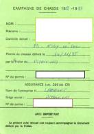 CAMPAGNE DE CHASSE 1992-1993 Permis De Chasser  CESARVILLE-DOSSAINVILLE  Viévy TIMBRE Fiscal +TIMBRE Chasse - Alte Papiere