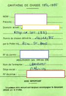 CAMPAGNE DE CHASSE 1994-1995 Permis De Chasser  CESARVILLE-DOSSAINVILLE  Viévy TIMBRE Fiscal +TIMBRE Chasse - Non Classificati