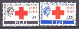 FIJI  203-4  (o)   RED  CROSS - Fiji (1970-...)