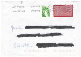 FRANCIA - France - 2008 - 1,10F Sabine De Gandon + La Dentelle - Viaggiata Da 23415A Per La Calotterie, France - Francia