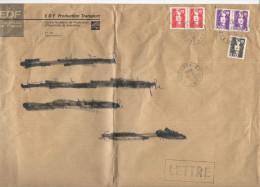 FRANCIA - France - 1995 - 0,10F + 2 X 0,50F + 2 Marianne De Briat-Jumelet + EDF - Viaggiata Da Loon Plage Per Attin, ... - Storia Postale