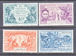 FRENCH  CAMEROUN  213-6  *  PARIS  INTERNATIONAL  FAIR - Unused Stamps