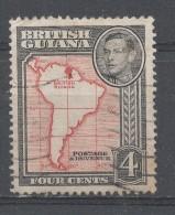 British Guiana 1952, Scott #232 Map Of British Guiana (U) - British Guiana (...-1966)