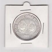 ® URUGUAY: Conmmemorativa Represa SALTO GRANDE (1981) 12 Gr. Silver/plata Proof - Uruguay