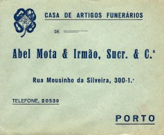 PORTO - Abel Mota & Irmão, Sucr. & C.ª - ENVELOPE COMERCIAL - ADVERTISING - PORTUGAL - 1910-... République