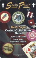 CCGTCC Casino Collectibles Show At South Point Casino Las Vegas - BLUE With King Of Diamonds - Casino Cards