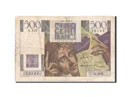 France, 500 Francs, 500 F 1945-1953 ''Chateaubriand'', 1948, 1948-05-13, KM:1... - 1871-1952 Circulated During XXth