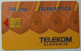 SLOVENIA - Chip - Telekom Slovenije - 1st Issue - 100 Imp - Used - Slovénie