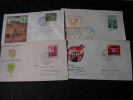 == BRD SAAR Lot 4 Briefe FDC  ??   Ca, 1958 - Briefmarken