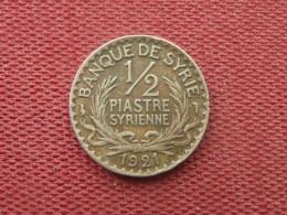 SYRIE Monnaie De 1/2 Piastre 1921 - Syrie