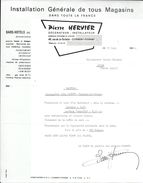 COURRIER INSTALLATION GENERALE MAGASINS P. HERVIER CLERMOND-FERRAND 1964 - Petits Métiers