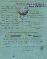 CARTOLINA PRIGIONIERI POW CAMP 308 ALEXANDRIE EGITTO 1942 X S ANGELO A CUPOLO - Military Mail (PM)