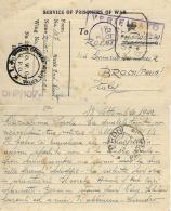 CARTOLINA PRIGIONIERI POW CAMP 28 YOL INDIA 1942 X BRONI - 1900-44 Vittorio Emanuele III