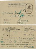 CARTOLINA PRIGIONIERI POW CAMP 27 YOL INDIA 1944 X COSENZA - 1900-44 Vittorio Emanuele III