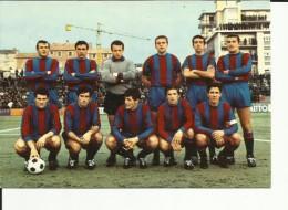 CARTOLINA CALCIO CC CATANIA 66-67. RADO, BUZZACCHERA, RAMBALDELLI, BICCHIERAI, GIROI, FARRA, BAISI, PERENI, VAIANI, ETC - Calcio