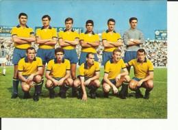 CARTOLINA CALCIO FC MODENA 66-67. AGUZZOLI, BORSARI, ROGNONI, TORO, DISTEFANO, ADANI, CONSOLE, ZANI, CATTANI, BARUCCO, - Calcio