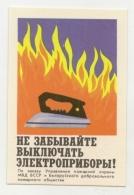 Pocket Calendar USSR - Byelorussia -  1981 - Fire - Iron - Fire Safety - Advertising - Calendars