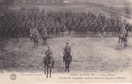 16 / 6 / 167  - GUERRE  1914 -  CAVALERIE ANGLAISE  MASSÉE  DANS  LA  RÉGION  D'YPRES - Manoeuvres